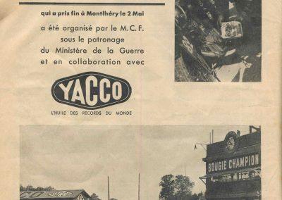 1937 17 05 YACCO, l'Huile des Records du Monde. Tour de France. 2