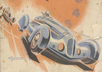 1938 11 09 les 12 heures de Paris. Biolay-Serreaud (Delahaye), Gordini-Scaron (Simca-Fiat), Pollédry (Aston Martin), Le Bègue-Morel (Talbot). 1