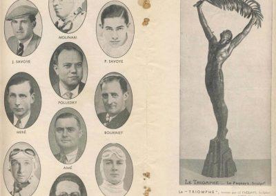 1938 11 09 les 12 heures de Paris. Raph, Serraud-G. Cabantous et Villeneuve-Biolay (Delahaye). Gordini-Scaron (Simca), Pollédry (Aston Martin), Le Bègue-Morel (Talbot). 3