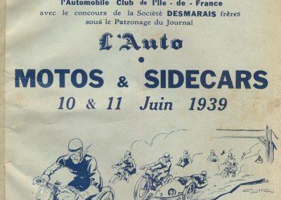 1939 11 06 les 24 heures du Bol d'Or, Circuit de 5 km à Montlhéry, les Coupes des Huiles Olazur, Desmarais Frères. Horvilleur. 1