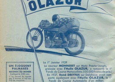 1939 11 06 les 24 heures du Bol d'Or, Circuit de 5 km à Montlhéry, les Coupes des Huiles Olazur, Desmarais Frères. Horvilleur. 2