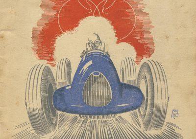 1945 09 09 Coupe de Paris, Bois de Boulogne, Porte Dauphine. Hommage à ''Robert Benoist''et ses camarades. 1
