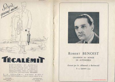 1945 09 09 Coupe de Paris, Bois de Boulogne, Porte Dauphine. Hommage à ''Robert Benoist''et ses camarades. 2