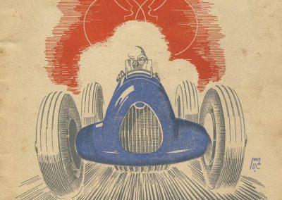 1945 09 09 Coupe de Paris, R. Benoist, Libération et des Prisonniers, Porte Dauphine. Amilcar C.A. Martin MCO, Mestivier MCO 1100, Ondet Monoplace 6 c. Grignard, Polledry Alfa 1750. 1