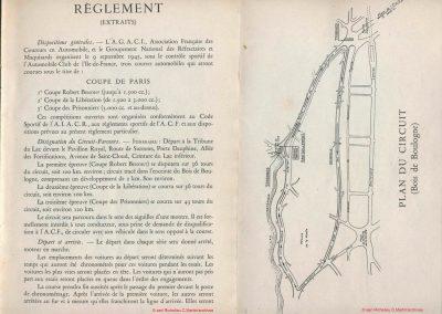 1945 09 09 Coupe de Paris, R. Benoist, Libération et des Prisonniers, Porte Dauphine. Amilcar C.A. Martin MCO, Mestivier MCO 1100, Ondet Monoplace 6 c. Grignard, Polledry Alfa 1750. 4