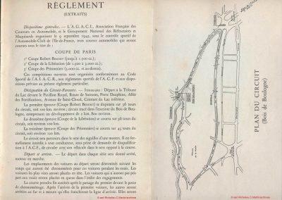 1945 09 09 Coupe de Paris, des Prisonniers, une R. Benoist, une de la Libération et 2 l'Ile de France) Bois Boulogne (Dauphine). Amilcar Ondet, Alfa 1750 Polledry. 3