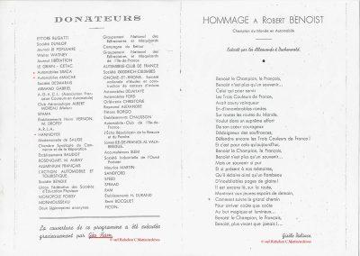 1945 09 09 Coupe de Paris et Libération, Dauphine. Amilcar Mestivier MCO 1100, C.A. Martin MCO 1500, Grignard, Ondet Monoplace 6cyl. Amilcar, Polledry Alfa-Roméo 1750. 15