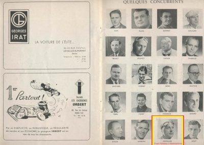 1945 09 09 Coupe de Paris (une Coupe des Prisonniers, une Robert Benoist, une de la Libération et 2 l'Ile France) Bois Boulogne (Dauphine). Amilcar Ondet, Alfa 1750 Polledry. 4