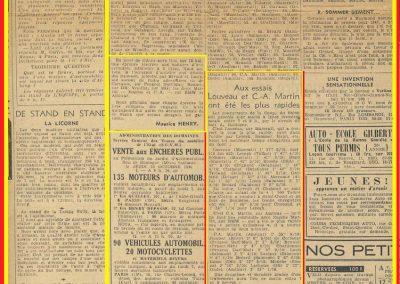 1946 06 10 Coupe du Salon. Bois de Boulogne-Dauphine-Muette. C .A. Martin Amilcar MCO 1500cc 1er au essais 1