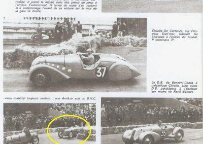 1946 09 06 Circuit Saint-Cloud Coupe Conseil Municipal Inaugu. Autoroute C.A. Martin Amilcar n°51 MCO 1500cc 8