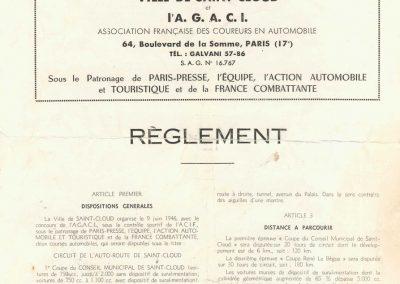 1946 09 06 Circuit Saint-Cloud Coupe Conseil Municipal Inauguratuib de l'Autoroute de l'Ouest. C.A. Martin Amilcar n°51 MCO 1500cc. 2