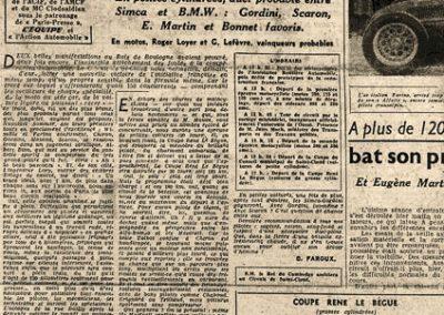 1946 09 06 Circuit Saint-Cloud Coupe Conseil Municipal Inauguratuib de l'Autoroute de l'Ouest. C.A. Martin Amilcar n°51 MCO 1500cc. 9