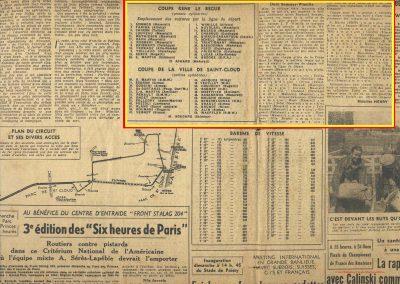 1946 09 06 Circuit Saint-Cloud. Coupe Conseil Municipal. Inaugu. Autoroute. 1er Scaron-Smca, de Cortanze, Gordini. ab. Mestivier et C.A. Martin Amilcar (1er aux essais n°51 MCO 1500). 2