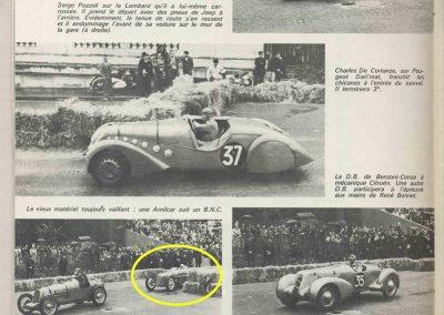1946 09 06 Circuit de Saint Cloud, Inauguration de l'Autoroute de l'Ouest, Amilcar MCO 1500, C.A. Martin n° 51, Louveau Maserati. 10