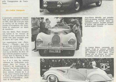 1946 09 06 Circuit de Saint Cloud, Inauguration de l'Autoroute de l'Ouest, Amilcar MCO 1500, C.A. Martin n° 51, Louveau Maserati. 12