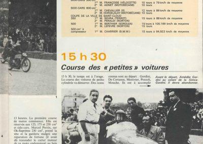 1946 09 06 Circuit de Saint Cloud, Inauguration de l'Autoroute de l'Ouest, Amilcar MCO 1500, C.A. Martin n° 51, Louveau Maserati. 14