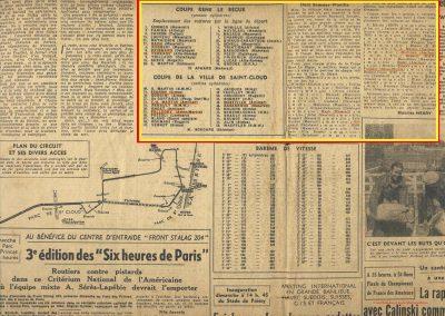 1946 09 06 Circuit de Saint Cloud, Inauguration de l'Autoroute de l'Ouest, Amilcar MCO 1500, C.A. Martin n° 51, Louveau Maserati. 2
