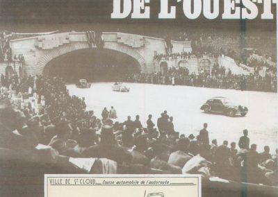 1946 09 06 Circuit de Saint-Cloud. Coupe Cons. Municipal et Ville de St-Cloud. Amilcar MCO 1500 C.A. Martin n°51, le 1100 de Mestivier n°38, 10ème et le Monoplace Amilcar de Ondet n°56, 12ème. 1