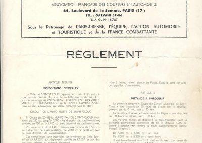 1946 09 06 Circuit de Saint Cloud. Coupe du Conseil Municipal. Inauguration de l'Autoroute de l'Ouest en présence du Général de Lattre de Tassigny. C.A. Martin Amilcar n°51 MCO 1500cc 1