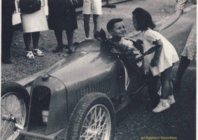 1947 15 09 B.O. Claude Martin au volant de la Baby Amilcar d'Usine, copie de la MCO 1500 des Records du Monde. 2_