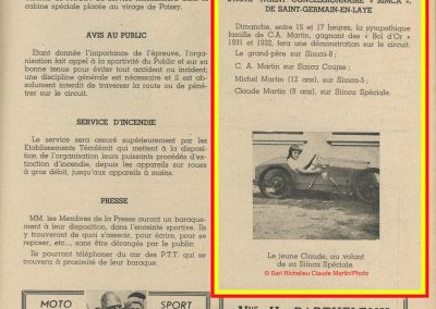 1947 15 09 Bol d'Or. Les Loges. 1er Cat Course Amilcar Monoplace Le Jamtel. Cat. Sport 1er Cayla Simca-Gordini. 10