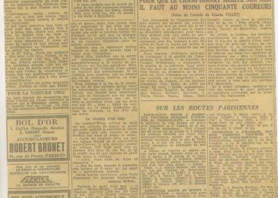 1947 15 09 Bol d'Or. Les Loges. 1er Course Amilcar Monoplace Le Jamtel. Cat. Sport 1er Cayla Simca-Gordini. Claude Martin sur la Baby Amilcar. 9