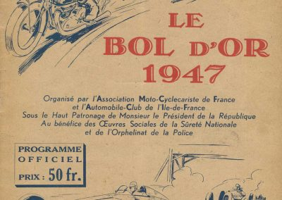 1947 15 09 Bol d'Or. Saint Germain-en-Laye, les Loges. 1er Cat. Course Amilcar Monoplace Le Jamtel. Cat. Sport 1er Cayla Simca-Gordini. Claude Martin sur la Baby Amilcar. 1