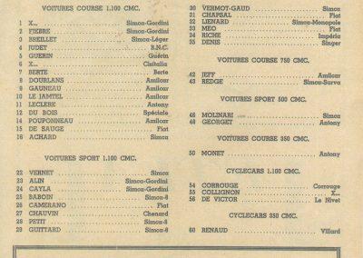 1947 15 09 Bol d'Or. Saint-Germain-en-Laye, les Loges. 1er Cat. Course Amilcar Monoplace Le Jamtel. Cat. Sport 1er Cayla Simca-Gordini. Claude Martin sur la Baby Amilcar. 3