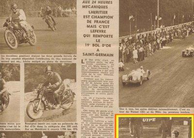 1947 15 09 Bol d'Or. Saint-Germain-en-Laye, les Loges. 1er Cat. Course Amilcar Monoplace Le Jamtel. Cat. Sport 1er Cayla Simca-Gordini. Claude Martin sur la Baby Amilcar. 5