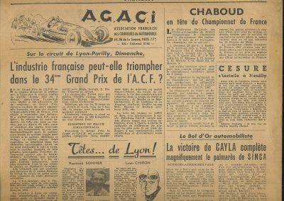 1947 15 09 Bol d'Or. Saint-Germain-en-Laye, les Loges. 1er Cat. Course Amilcar Monoplace Le Jamtel. Cat. Sport 1er Cayla Simca-Gordini. Claude Martin sur la Baby Amilcar. 6