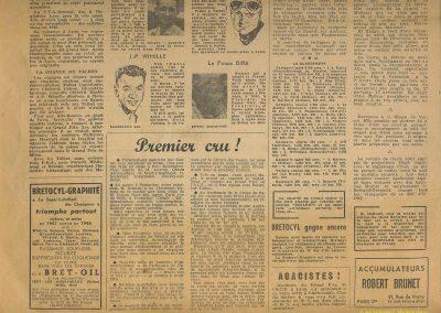 1947 15 09 Bol d'Or. Saint-Germain-en-Laye, les Loges. 1er Cat. Course Amilcar Monoplace Le Jamtel. Cat. Sport 1er Cayla Simca-Gordini. Claude Martin sur la Baby Amilcar. 7