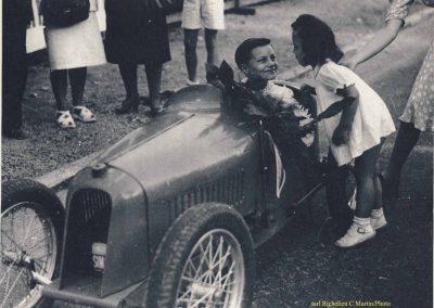 1947 18 09 Bol d'Or, Saint-Germain-en-Laye. Claude sur le Baby MCO Amilcar Monoplace. 1er le Jamtel, Cat Course. Pouponneau Amilcar-C.A. Martin. Cayla 1er Cat. Spo - Copie