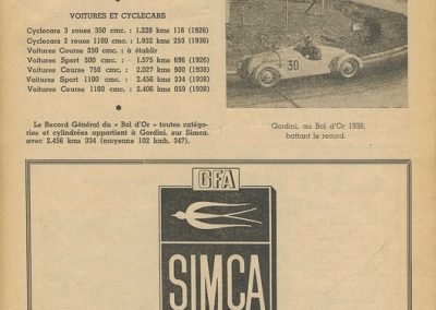 1947 18 09 Bol d'Or. Les Loges. 1er Cat Course (le Jamtel) Amilcar Monoplace. 1er Cat. Sport (Cayla) Simca-Gordini. 6_