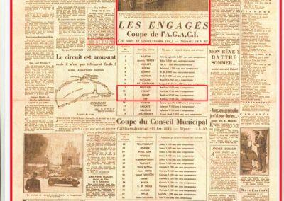 1947 28 07 Coupe de Paris, Porte Dauphine au Bois de Boulogne. Coupe de l'AGACI, Mestivier Amilcar MCO 1100, Ondet Monoplace et Jeff C.6. Coupe Cons. Municipal, 6 Simca et 8 Cisitalia engagées. 2