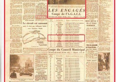 1947 28 07 Coupes Automobiles de Paris à Longchamp. Coupe de l'AGACI Mestivier Amilcar MCO 1100, Ondet Monoplace et Jeff. Coupe du Conseil Municipal 6 Simca, 8 Cisitalia. 1
