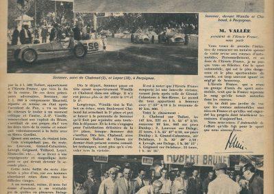 1947 GP de Perpignan (Roussillon) Wimille-Simca, 1er Chaboud-Talbot 4500cc. 1