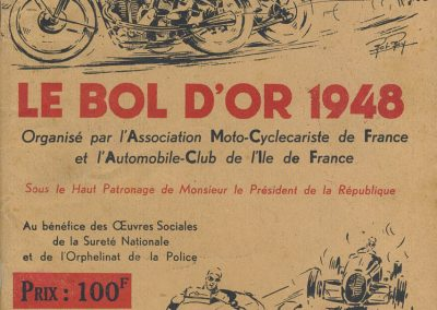 1948 05 06 Bol d'Or. 1er Scaron Simca-Gordini asssistance de C.A. Martin. 1er Cat. Le Jamtel. Monoplace Amilcar. Claude Martin Amilcar Baby. 1