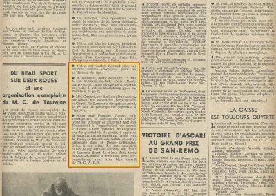 1948 -- 06 06 GP Paris. F. Pousse, Duquesnoix, Ascari ier GP St Rémo. 1