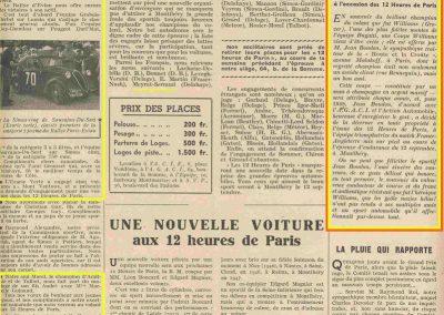 1948 12 09 les 12 h. de Paris, Goux. Coupe Boudon, Hommage à Williams. Bugatti. 1