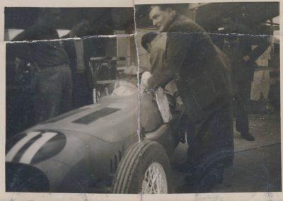 1948 15 09 Bol d'Or, C.A. Martin-Gaston Mottet Amilcar MCO GH, nouvelle carrosserie. L'originale d'époque ayant été conservée et replacée sur le châssis. 1