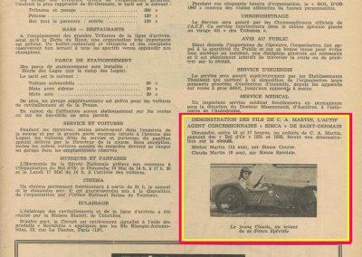 1948 15-17 05 20ème Bol d'Or. Le jeune Claude Martin à bord de la Baby Amilcar. 6