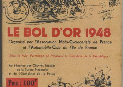 1948 15 17 05 Bol d'Or le 20ème. C.A. Martin auprès Scaron 1er Simca-Gordini. Le Jamtel Amilcar Monoplace RedeX Derji, n°4, 2ème et 1er Cat. Course. ab. G. Mottet-C.A. Martin Amilcar MCO n°1