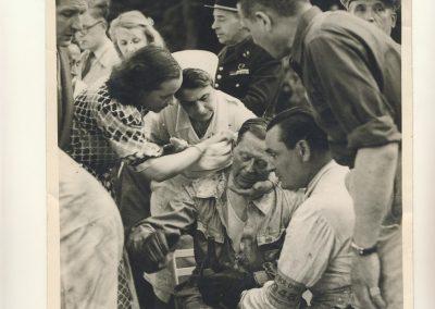 1948 15 17 05 Bol d'Or le 20ème. C.A. Martin auprès Scaron 1er Simca-Gordini. Le Jamtel Amilcar Monoplace RedeX Derji, n°4, 2ème et 1er Cat. Course. ab. G. Mottet-C.A. Martin Amilcar MCO n°2
