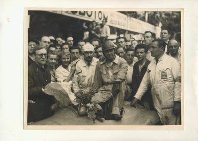 1948 15 17 05 Bol d'Or le 20ème. C.A. Martin auprès Scaron 1er Simca-Gordini. Le Jamtel Amilcar Monoplace RedeX Derji, n°4, 2ème et 1er Cat. Course. ab. G. Mottet-C.A. Martin Amilcar MCO n°5. 2