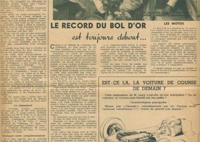 1948 15 17 05 Bol d'Or le 20ème. C.A. Martin auprès Scaron 1er Simca-Gordini. Le Jamtel Amilcar Monoplace RedeX Derji, n°4, 2ème et 1er Cat. Course. ab. G. Mottet-C.A. Martin Amilcar MCO n°5. 3