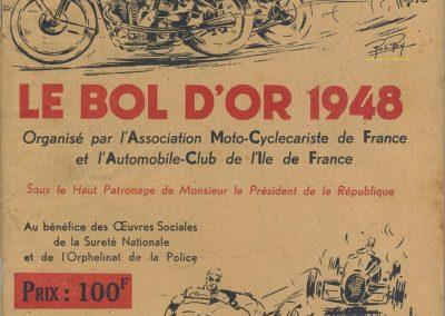 1948 16-17 06 Bol d'Or,1er Sport Scaron Simca-Gordini, 1er Course Le Jamtel Amilcar, Claude Martin sur Amilcar MCO Baby. 1