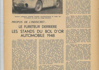 1948 17 05 Bol d'Or Saint Germain en Laye, 1er Sport Scaron Simca-Gordini, 1er Course Le Jamtel Amilcar Monoplace. 1