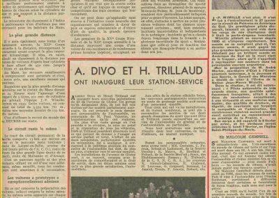 1948 27 09 DC de Wimille et Campbell. Innauguration Station Service Divo et Trillaud. 1