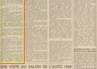 1948 5-6 12 Records à battre. Amilcar MCO GH 24 heures D.A. 3285 km à 136,902 km. 1_