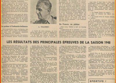 1948 Résultats des principales compétitions 001